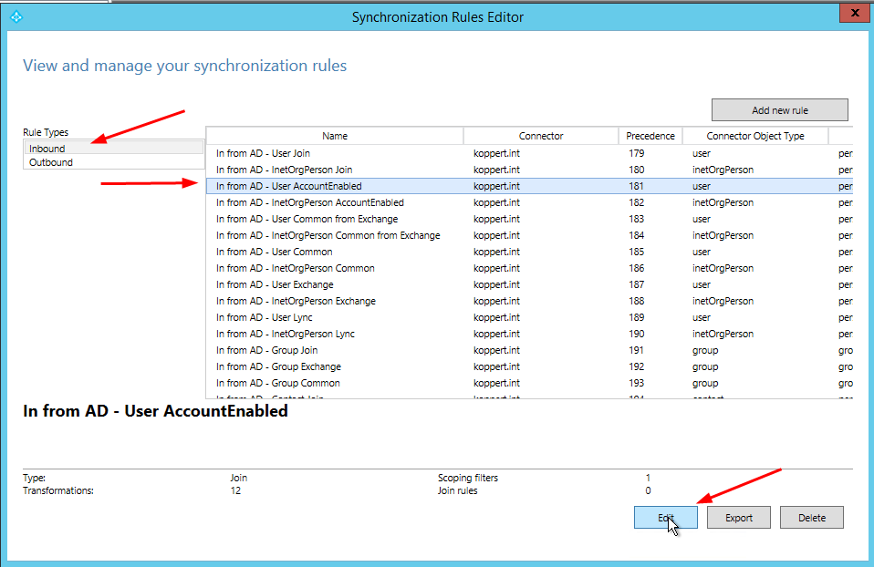 Sync disabled users (shared mailboxes) to Office 365 with Azure