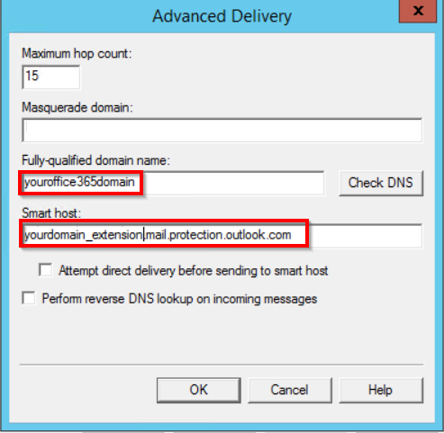 Configure TLS relay on IIS for Exchange Online / Office 365